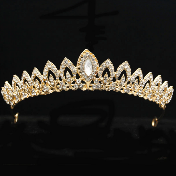 Princess Ellie Gold Rhinestone Tiara
