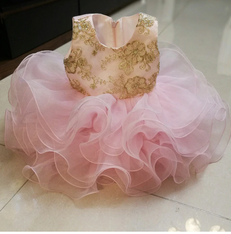 Pink & Gold Cupcake Fairy Dress