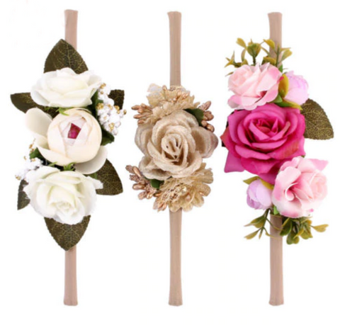 Sweet Floral Headbands for Baby + Girls