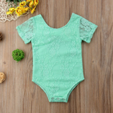 Mint Green Lace Baby Romper