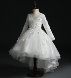 "The ""Papillion"" Girls White Butterfly Party Dress"