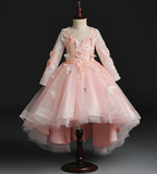 "The ""Papillion"" Girls Pink Butterfly Party Dress"