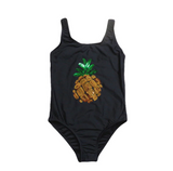 Sequin Pineapple Vibes Girls Swimsuit