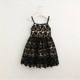 "The ""Mila"" Black Lace Khaki Dress"