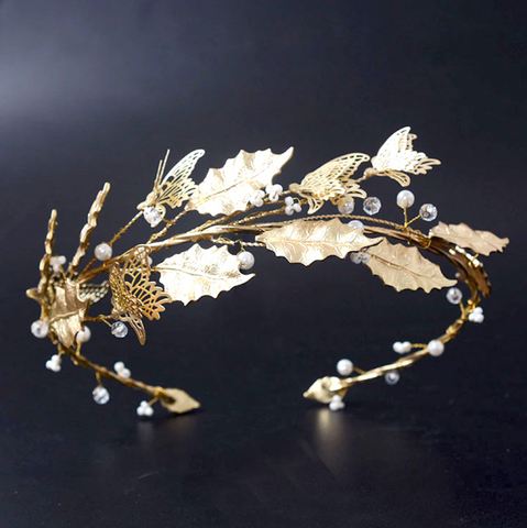 Neaveh Gold Butterfly Headpiece