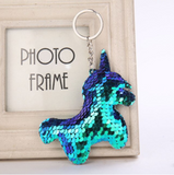 Unicorn Sequin Keychain