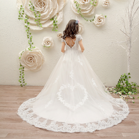 "The ""Heart of Love"" Luxury Flower Girl Dress"