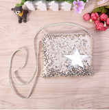 Girls Sequin Star Shoulder Purse