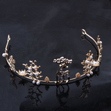 Winter Reindeer Gold Crown