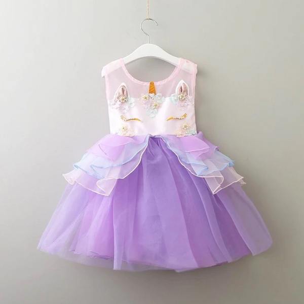 Unicorn Dreams Dress - Purple