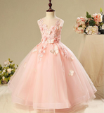 "The ""Mariella"" Girls Pink Butterfly Tutu Dress without Train"