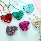 Girls Mermaid Sequin Heart Shoulder Purse