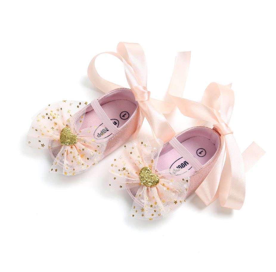 Stars & Heart Tulle Baby Shoes