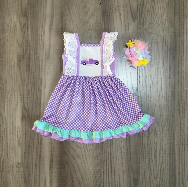 Easter Cheer Dress with Bow
