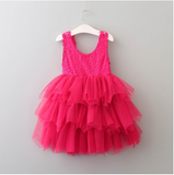 "The ""Emma"" Hot Pink Lace Baby Dress - Angora Boutique"