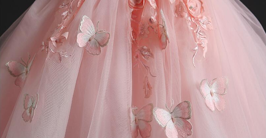 "The ""Monarch"" Girls Pink Butterfly Tutu Dress"