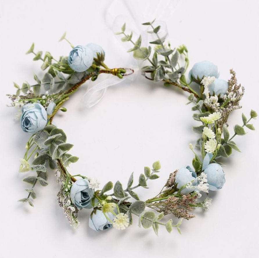 Bashful Blue Spring Flower Crown