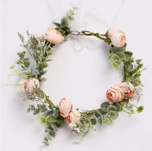 Perfectly Pink Spring Flower Crown