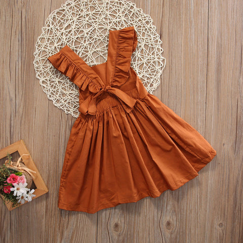 Terracotta Rose Baby + Girls Dress