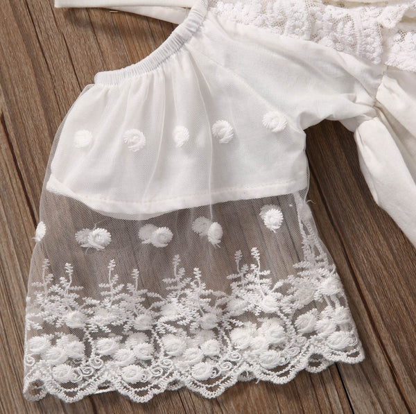 "The ""Maggie"" Cotton White Lace Boho Dress"