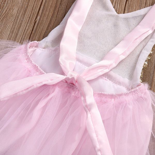 d32ca48967b Natalia Light Pink and Gold Sequin Baby Romper with Tulle Skirt + Head – Angora  Boutique