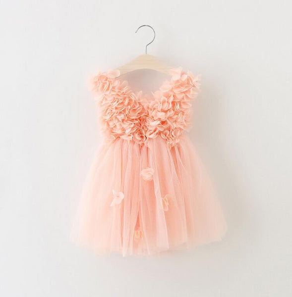 "The ""Lily"" Cascading Flower Tutu Dress - Angora Boutique - 1"