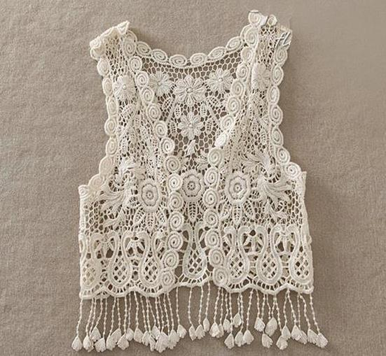 Boho Toddler Girls Crochet Fringe Vest Angora Boutique