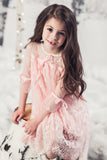 "The ""Abbygail"" Pink Lace Girls Dress"