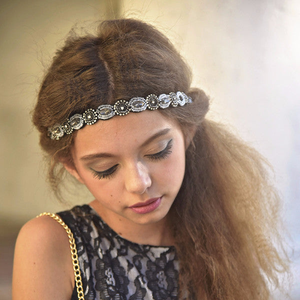 Boho City Glam Black Headband - Angora Boutique - 1
