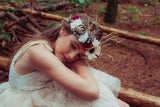 Whimsy Floral Deer Antler Headpiece