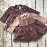 "The ""Lila"" Moon and Stars Pink and Purple Baby Dress - Angora Boutique - 1"