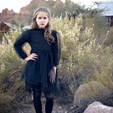 "The ""Chelsea"" Girls Black Lace Dress - Angora Boutique - 1"