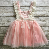 "The ""Renee"" Vintage Inspired Apron Dress - Pink - Angora Boutique - 4"