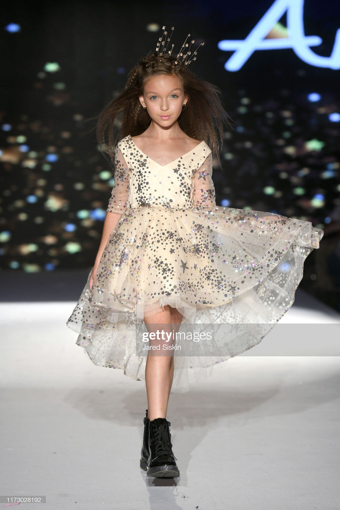 "The ""Tosia"" Girls Star Sequin Dress"