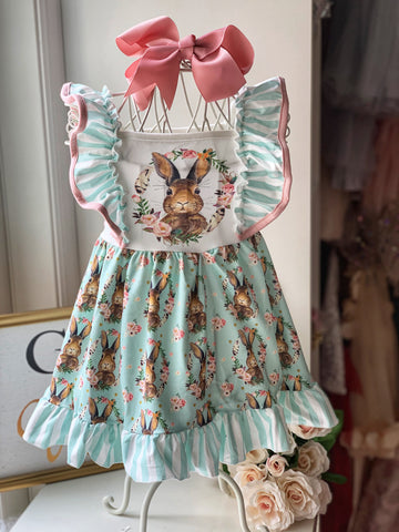 Vintage Inspired Bunny Dress with Bow - Angora Boutique