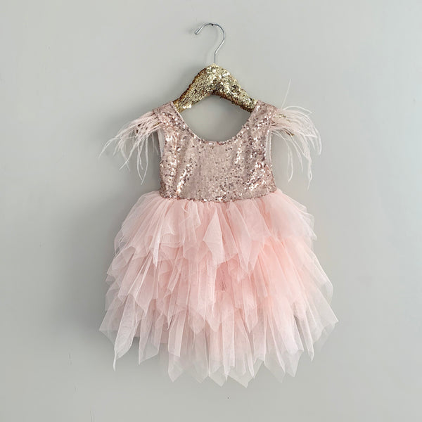 Rose Gold Dream Baby Toddler Dress- Angora Boutique