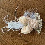 Newborn Vintage Inspired Beige Lace Headband