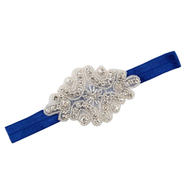 Rhinestone Diamond Shape Glam Headband - Angora Boutique