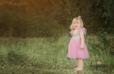 "The ""Lexi"" Infant + Toddler + Girls Pink and Gold Sequin Tutu Dress - Angora Boutique - 3"