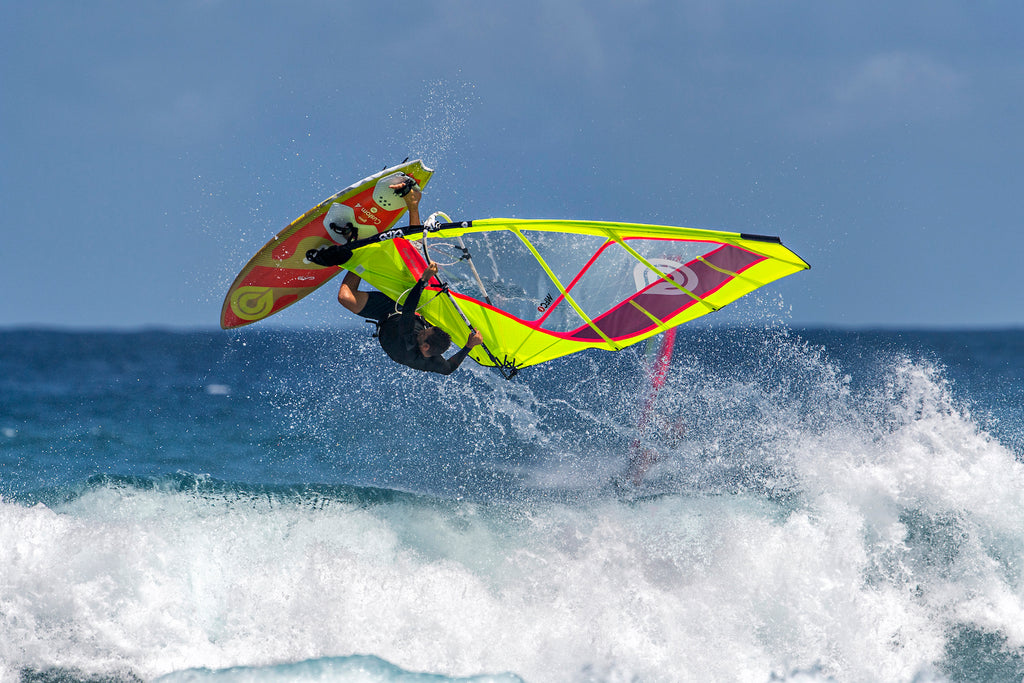 Tweaked Air on the 2020 Goya Custom 4 Quad Fin Windsurfing Board