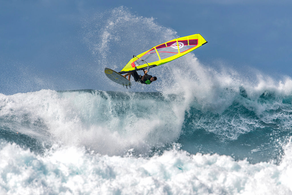 Off the Lip on the 2020 Goya Custom 4 Quad Fin Windsurfing Board