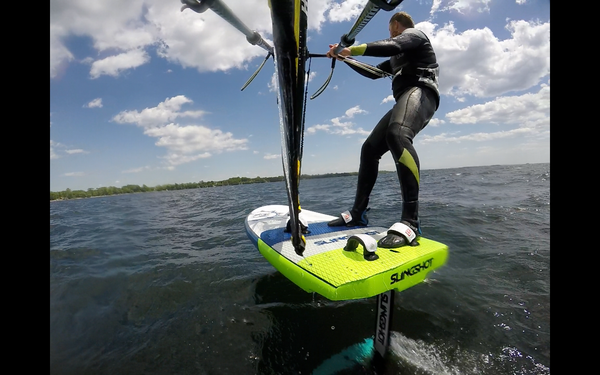 Cruising Stance with the Naish Lift Foil Windsurf Sail