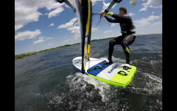 Pumping with the Naish Lift Windsurf Foil Sail