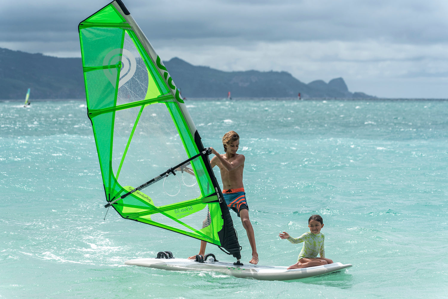 Family Fun on the Goya Surf Windsurf Board