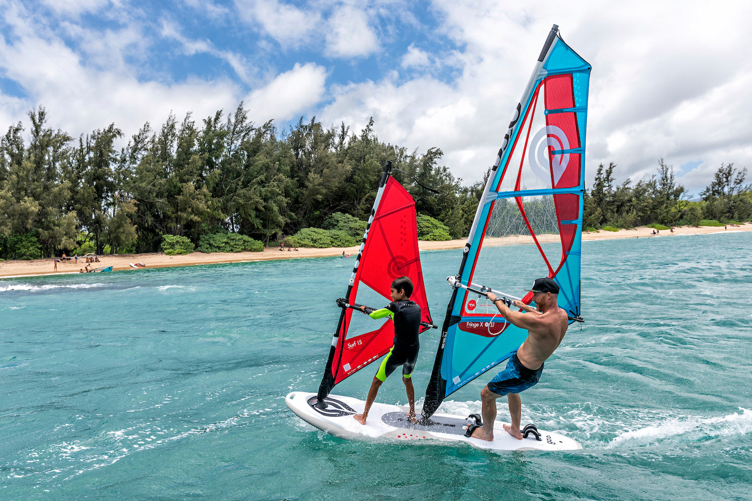 Tandem Sailing on the Goya Surf Windsurf Board