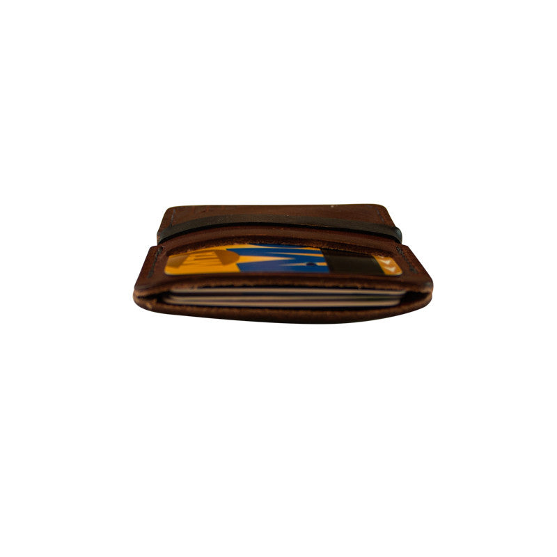 Minimalist Wallet with Rubber Band- Brown
