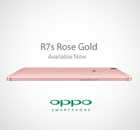 OPPO R7s Rose Gold edition singapore