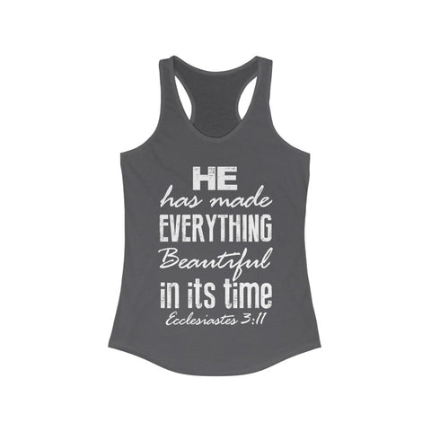I Can Do All Things Through Christ Bible Verse Racerback Tank -NP