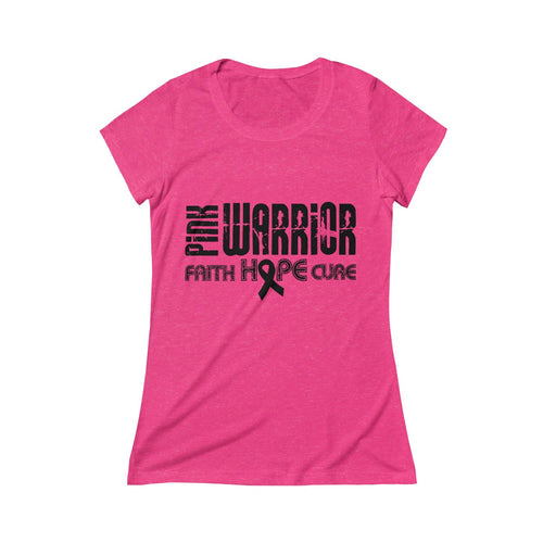 Pink Warrior Women's Breast Cancer Crew Tee