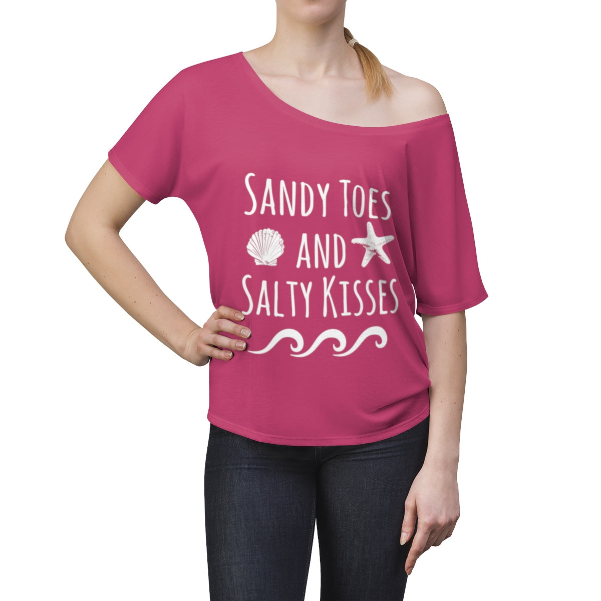 Sandy Toes & Salty Kisses Beach Cover Up Top